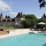 Chateau Lacanaud pool & rear facade