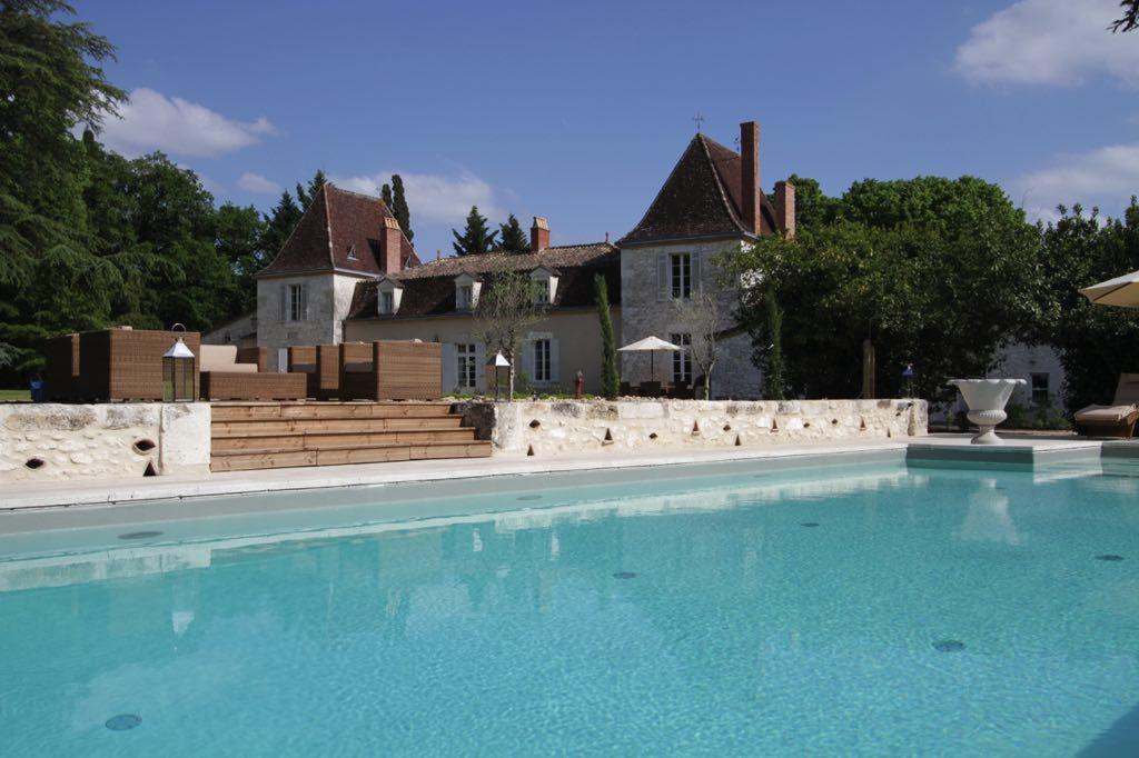 Pool, decking & rear facade