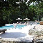 Pool thru Bay Arch