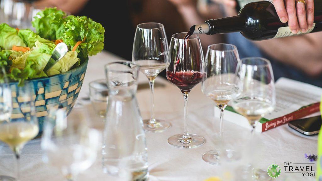 Wine tasting yoga holiday