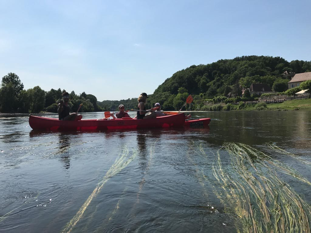 A break from yoga - canoeing the River Dordogne