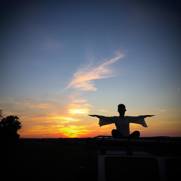 Yoga at sunset